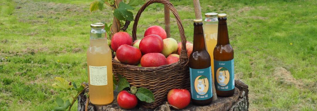 tolykkegård økologiske æbler æblemost æblecider det våde får cider