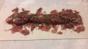 mørbrad røget lammekød butterdej